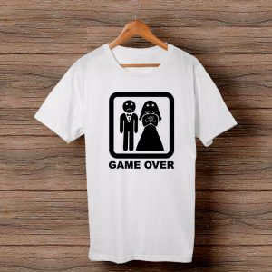 Тениска за ергенско парти с щампа Game over