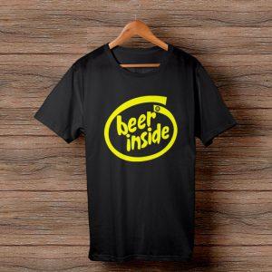 Тениска с щампа Beer Inside