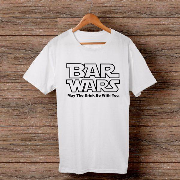 Тениска с щампа Bar Wars