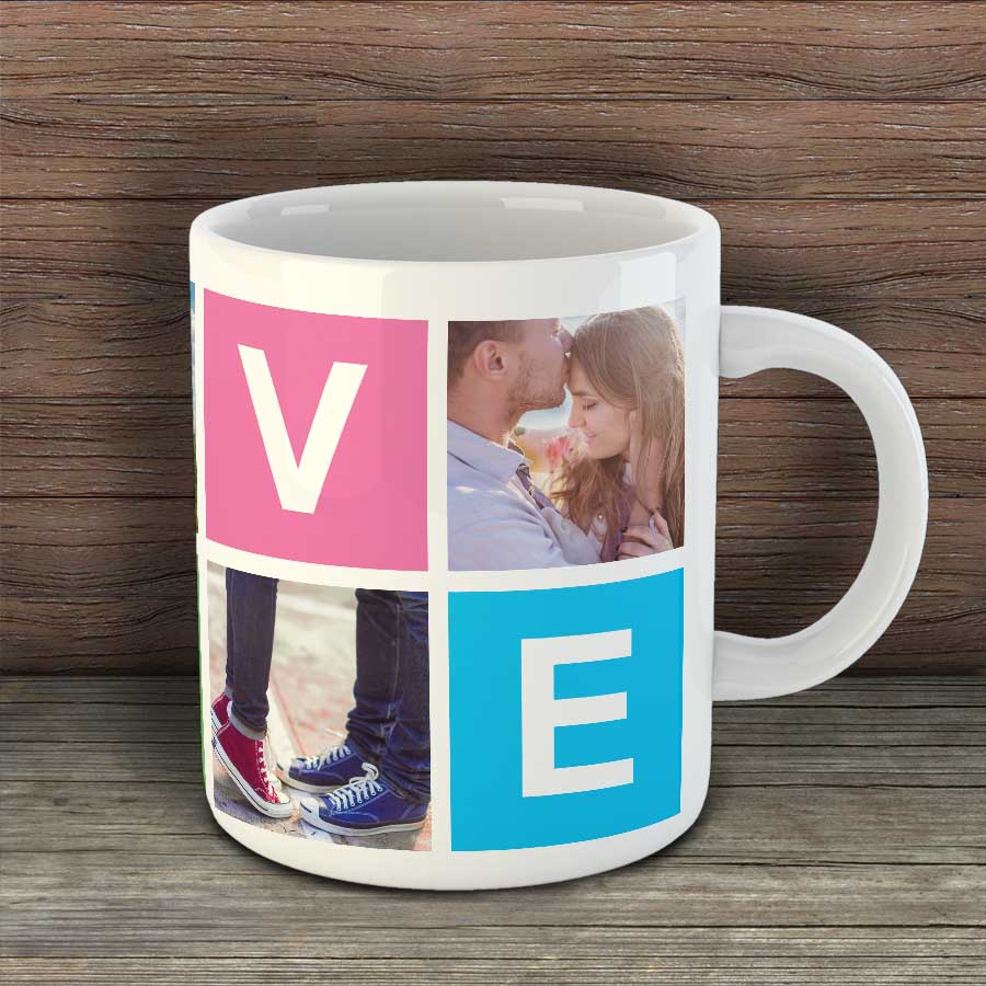 Чаша LOVE с 4 снимки