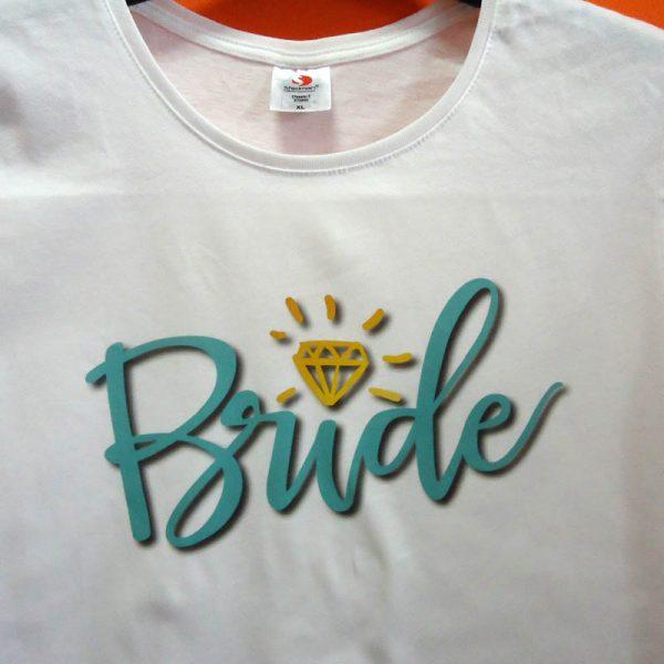 Тениска с щампа Bride