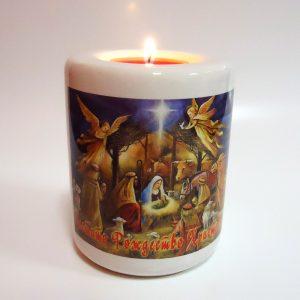 Свещник със снимка
