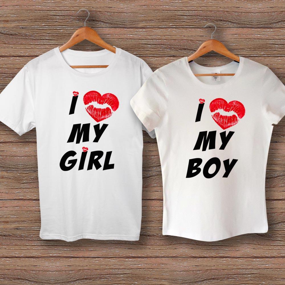 Тениски Love My Girl/Boy