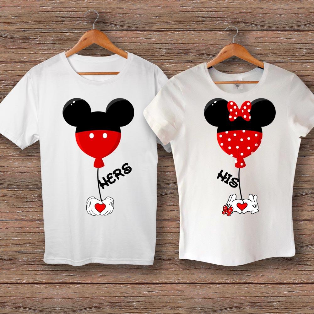 Тениски Hers Mickey - His Minnie