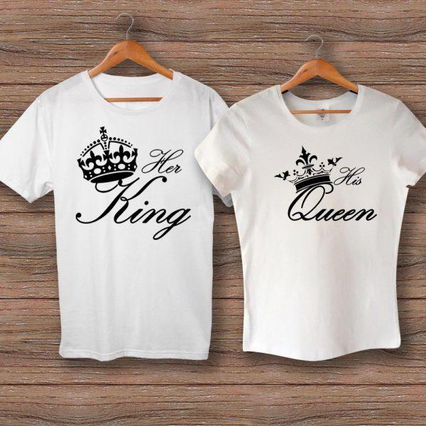 Тениски HER KING и HIS QUEEN