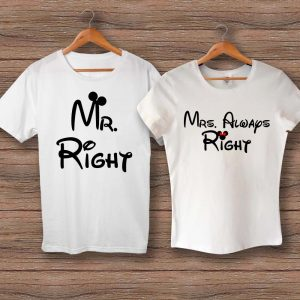 Тениски Mr. Right и Mrs. Always Right