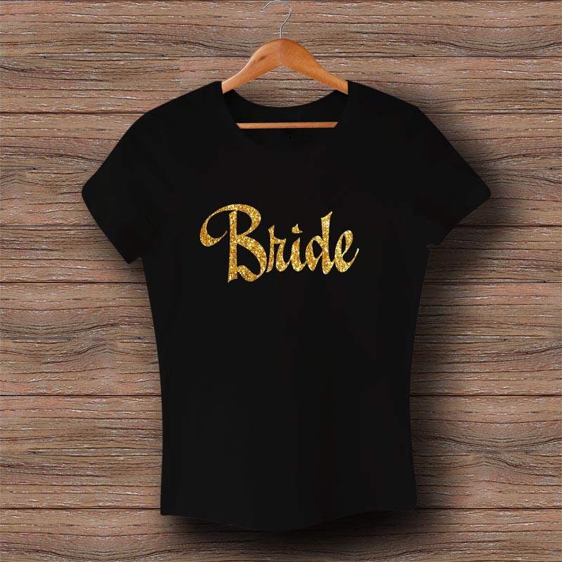 Тениска Bride - Златен брокат