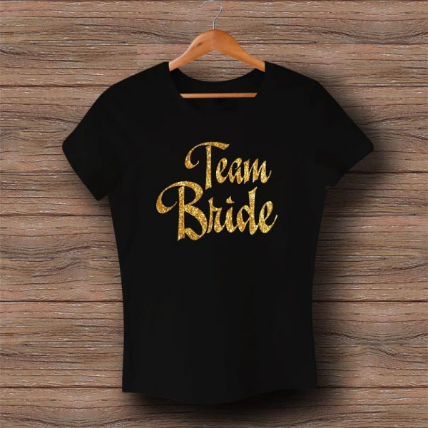 Тениска Team Bride - Златен брокат