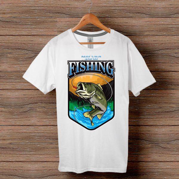 Тениска Keep Calm And Go Fishing