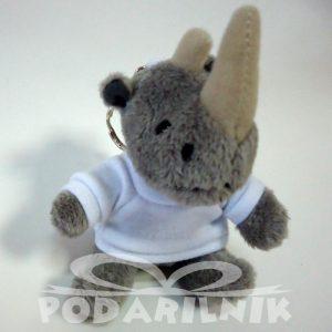 Ключодържател със снимка - Носорог Плюшен