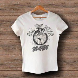 Фитнес тениска All You Need Is Gym - ДАМСКА Бяла