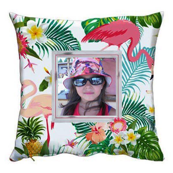 Възглавничка със снимка - Фламинго
