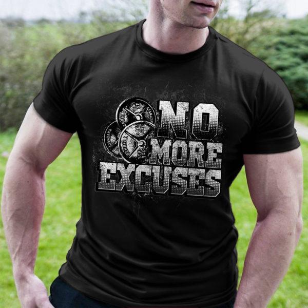 Фитнес тениска NO MORE EXCUSES