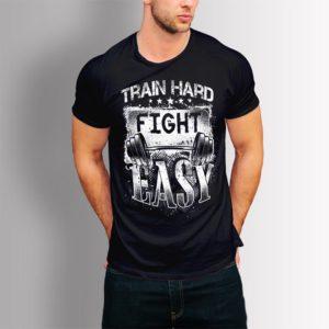 Фитнес тениска Train Hard Fight Easy