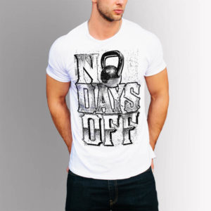 Фитнес тениска No Days Off - бяла