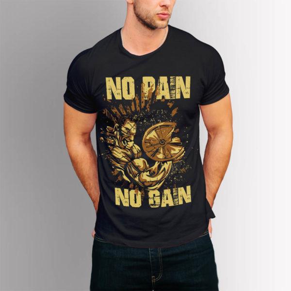 Фитнес тениска No Pain No Gain