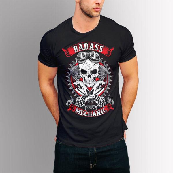 Тениска с щампа Механик