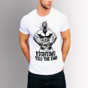 Тениска ММА - Бяла