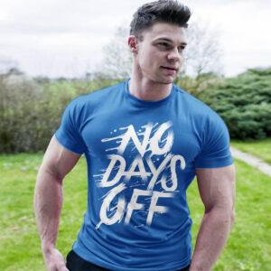 Фитнес тениска No Days Off 3 - Синя