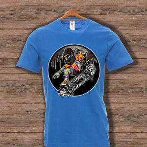 Скейтърска тениска 012 - Синя