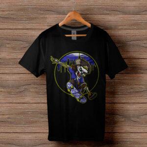 Скейтърска тениска 002 - Черна