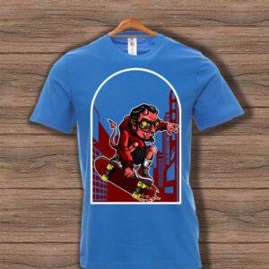Скейтърска тениска 020 - Синя
