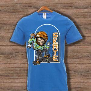 Скейтърска тениска 022 - Синя