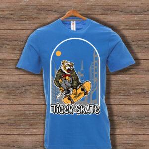Скейтърска тениска 023 - Синя