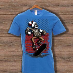 Скейтърска тениска 024 - Синя
