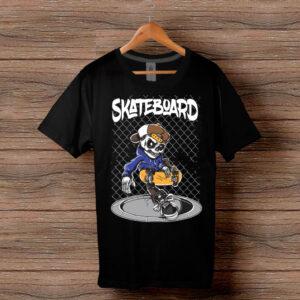 Скейтърска тениска 025 - Черна
