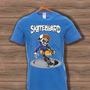 Скейтърска тениска 025 - Синя