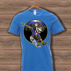 Скейтърска тениска 002 - Синя