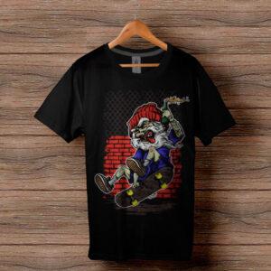 Скейтърска тениска 003 - Черна