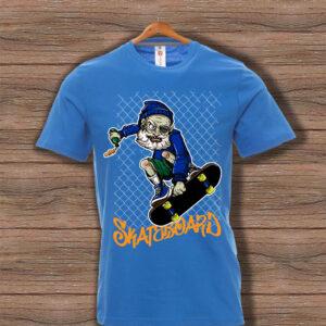 Скейтърска тениска 004 - Синя
