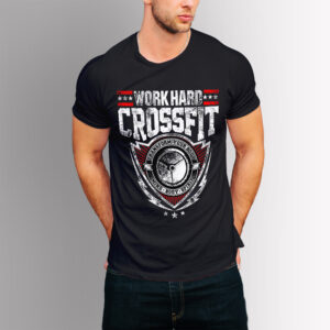 Фитнес тениска Crossfit - Черна