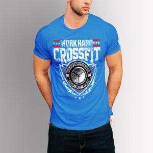 Фитнес тениска Crossfit - Синя