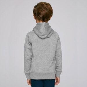 Детски суичър със снимка - Сив, гръб