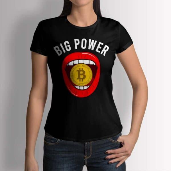 Bitcoin Big Power - Крипто тениска